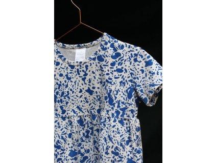 biobavlněné modro-bílé šaty Tinycottons 2Y