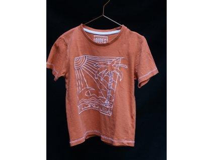 oranžové tričko Florida USA Matalan 6Y