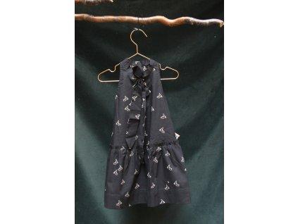 šaty v pírkách v černé CUNA VLNAMI 90-140