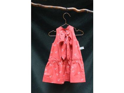 šaty v pírkách v cihlové CUNA VLNAMI 98-140