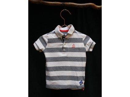 proužkované polo tričko s loďkou Mothercare 86