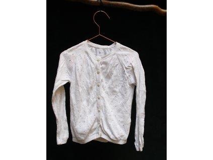 bílý propínací svetřík M&S 5-6Y