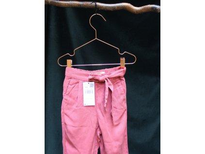 malinové kalhoty s kapsami a mašlí ze 100% lyocellu Mango 4-5Y