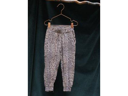tygrované kalhoty ze 100% viskozy Lindex 5-6Y