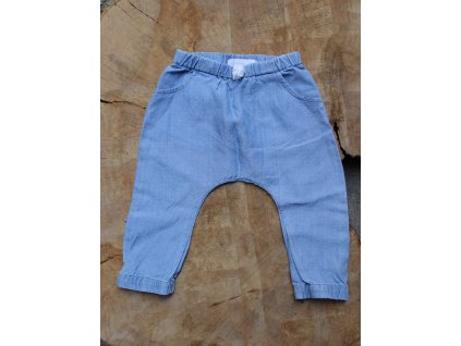světle modré kalhoty ze 100% tencellu Early days 68
