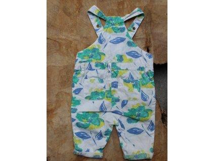 letní květované kalhoty s laclem Baby GAP 0-3M