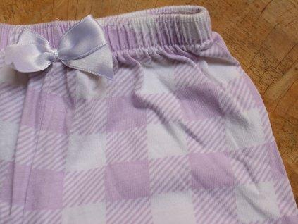 bavlněné fialovo-bílé kostkované kraťasy Disney 116