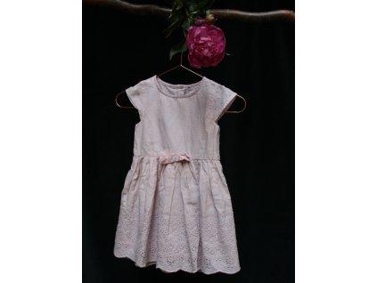 světle růžové bavlněné šaty se spodničkou Early days 80
