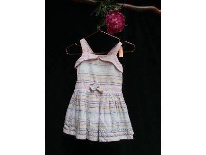 růžové proužkované šaty se spodničkou George 86