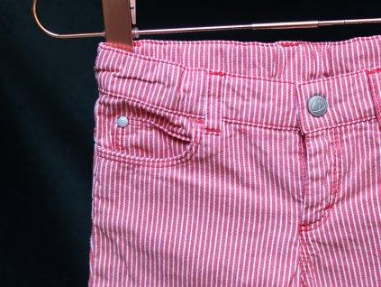 kalhoty červeno-bílý proužek Petit Bateau 86