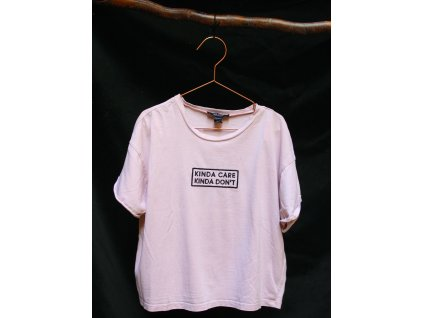 starorůžové triko s nápisem New Look 12-13Y