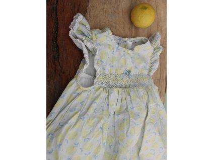 Roztomilé bavlněné šaty M&Co s citrónky 98