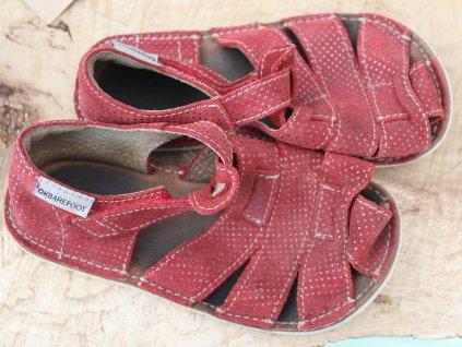 vínové barefoot sandálky 27 OKBarefoot
