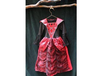 kostým červeno-černé ŠATY pro princeznu TU 4-6Y