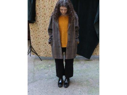 překrásný vintage mohérový kabát Strowenz-Karner