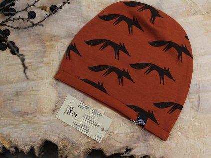 čepice zrzavá lišky Šimido