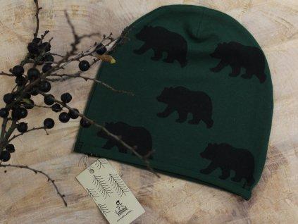 čepice zelená medvědi Šimido