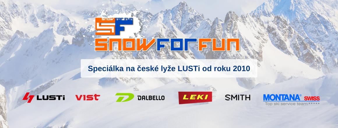 SNOW FOR FUN - speciálka na lyže LUSTi