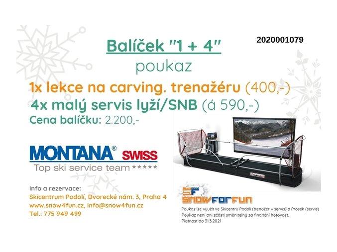 Slevové poukazy - carvingový trenažér + malý servis MONTANA SWISS