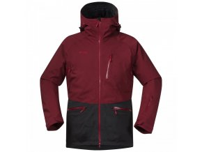 bergans myrkdalen jacket burgundy solid charchoal