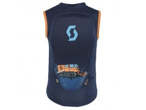 Scott Vest Protector Jr Actifit black/iris/orange print