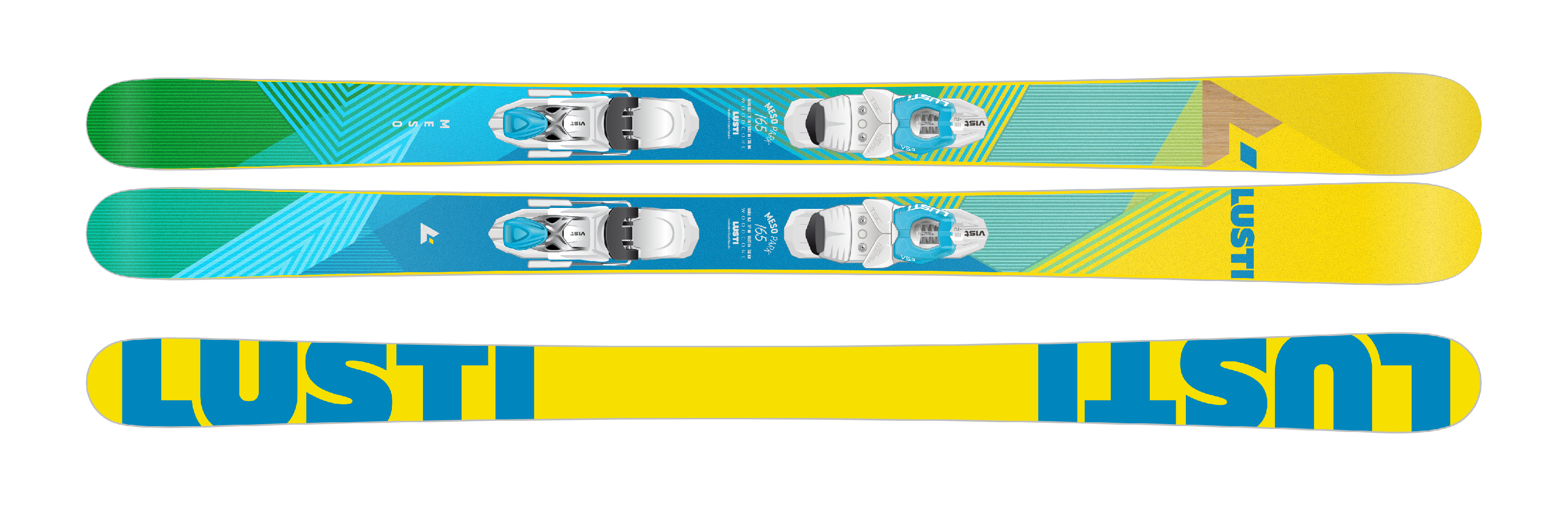 LUSTI MESO - freestyle, 155 cm, 2017 VIST VSP 412 + deska SPEEDSPACER