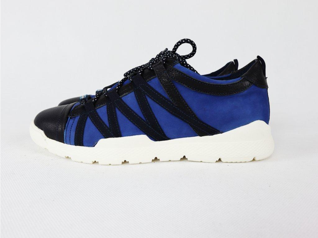 Pánské modré, sportovní, semišové boty