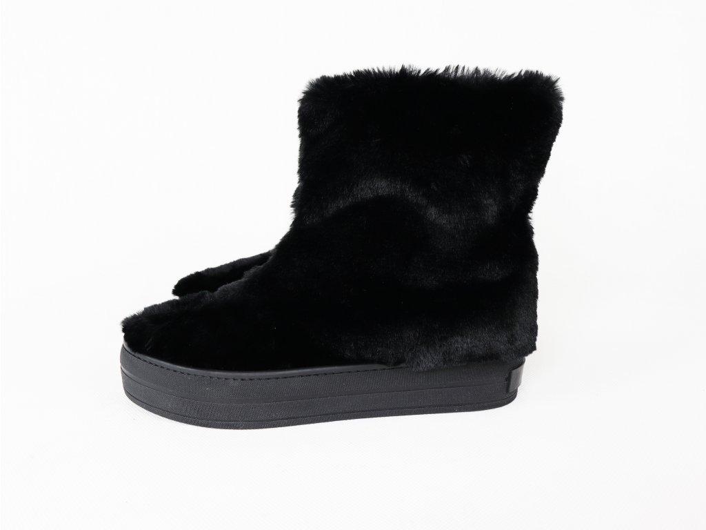 Dámské boty s umělým kožíškem