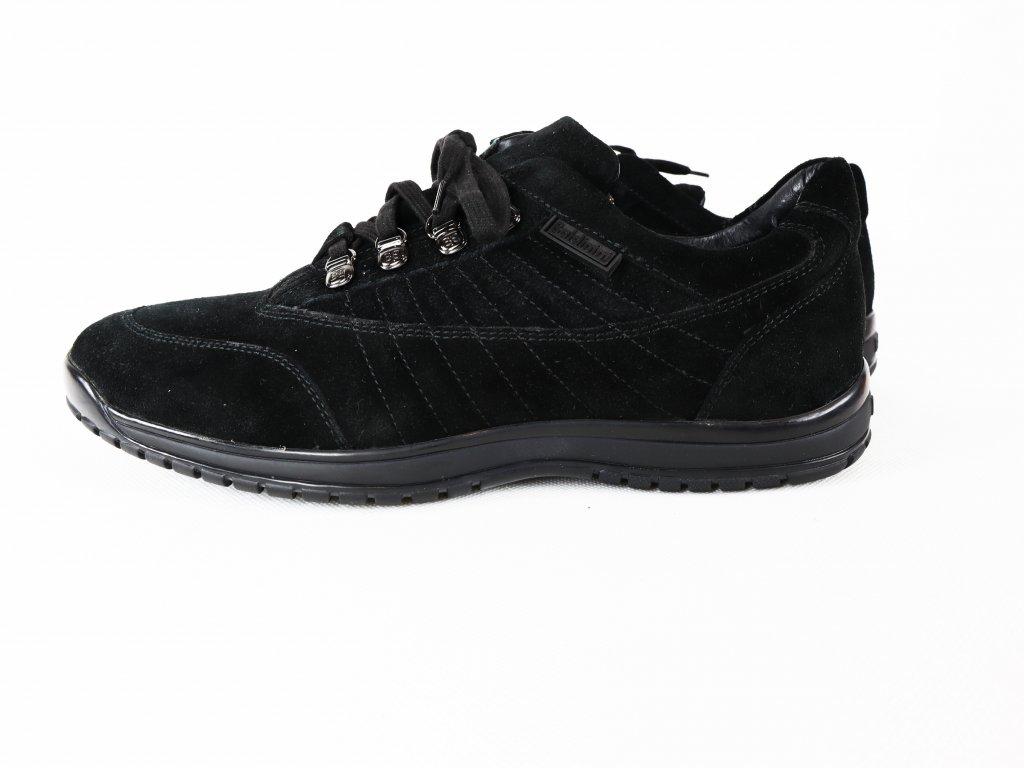 Pánské vycházkové, černé, semišové boty