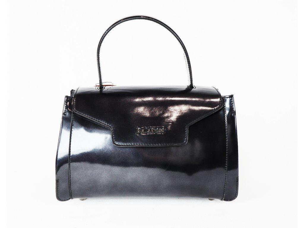 Dámská kožená, černomodrá kabelka