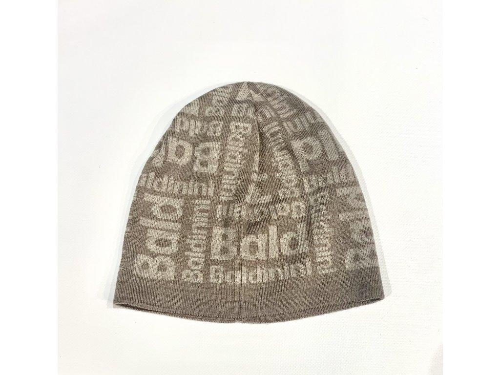 """Dámská tmavší béžová čepice, zdobení logem """"Baldinini"""""""