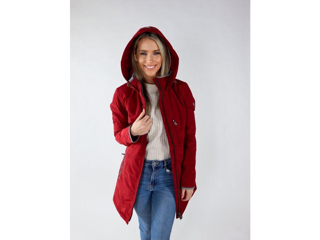 Dámská červená bunda Stockholm