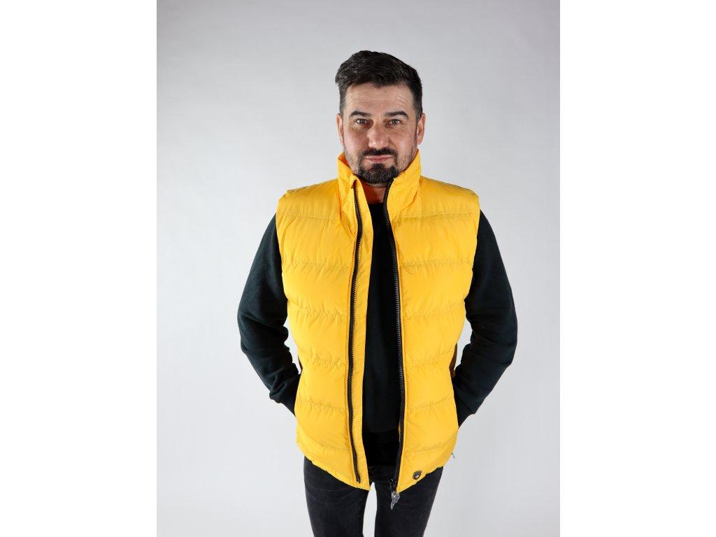 Pánská žlutá vesta Snowdome west men