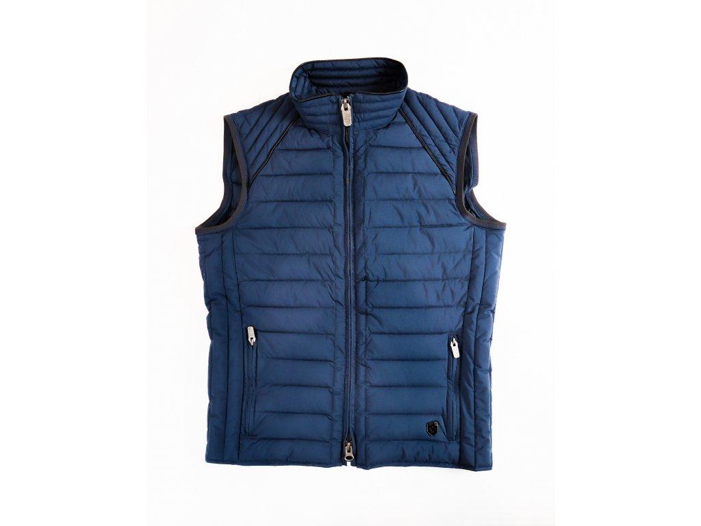 Pánská modrá vesta Molecule vest men