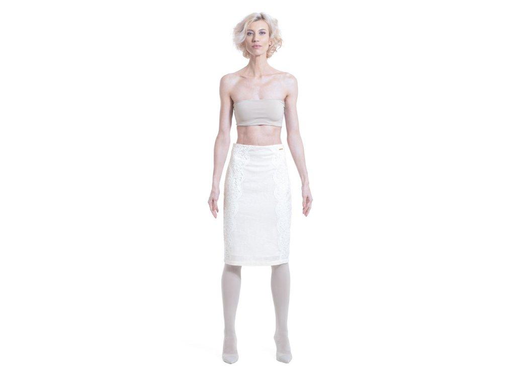 Lněná sukně s krajkou INTEGRITY