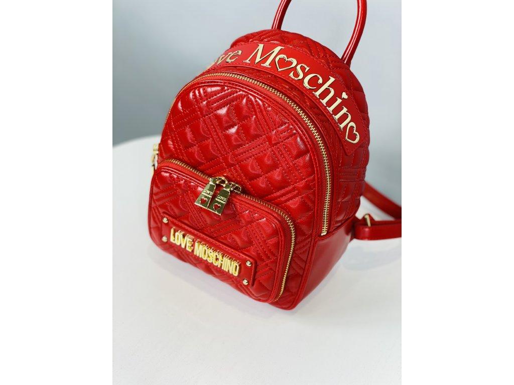 Červený malý batoh Love Moschino