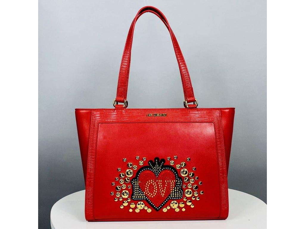 Větší červená kabelka Love Moschino