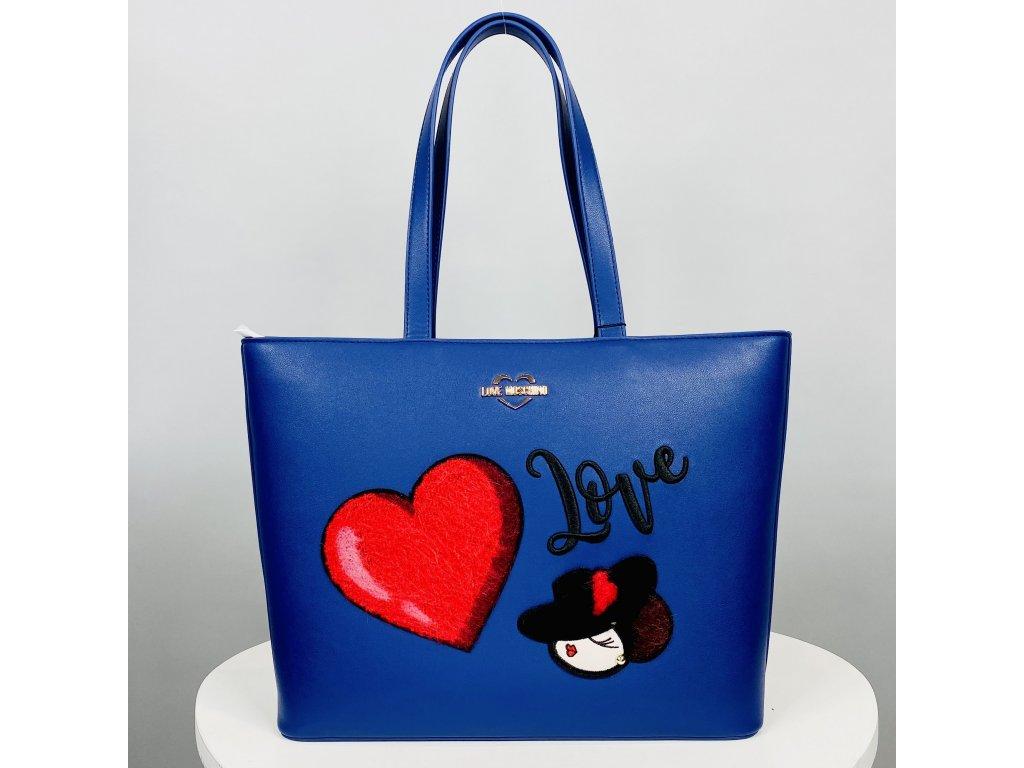 Modro-fialová kabelka Love Moschino