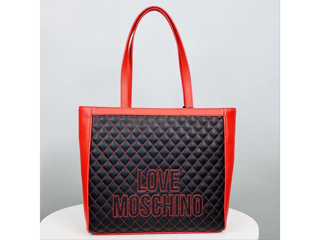 Velká černo-červená kabelka Love Moschino
