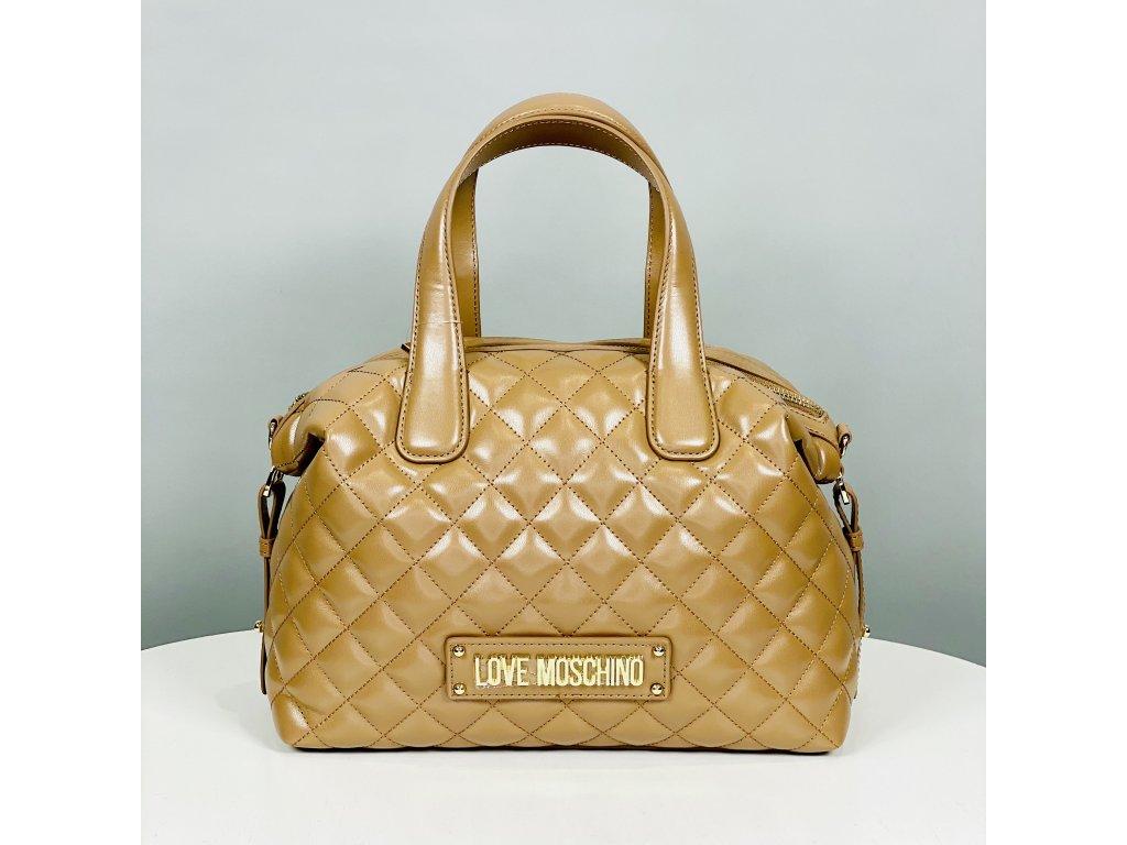 Hnědo zlatá kabelka Love Moschino