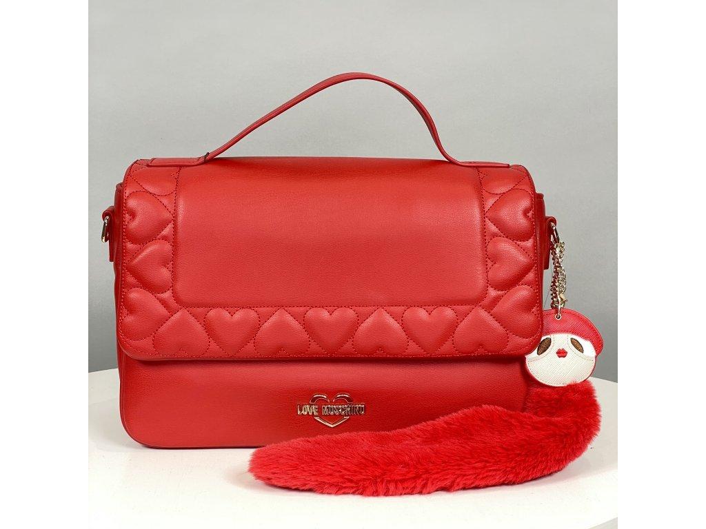 Červená kabelka Love Moschino s ocasem