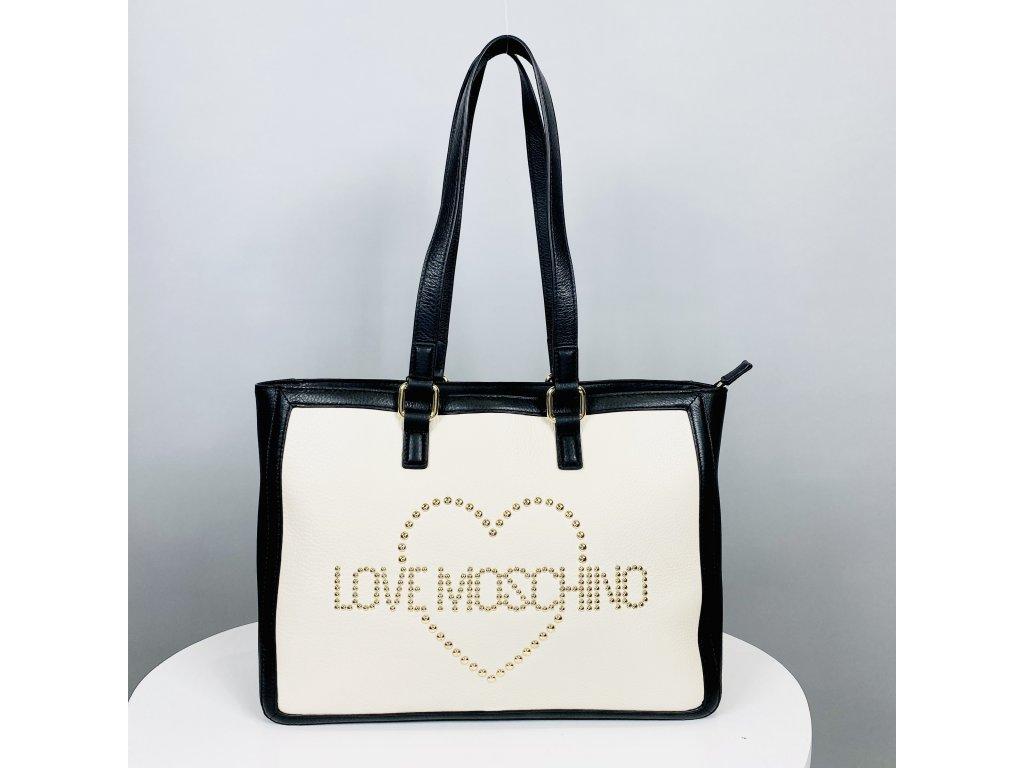 Černobílá kabelka shopper Love Moschino shopper