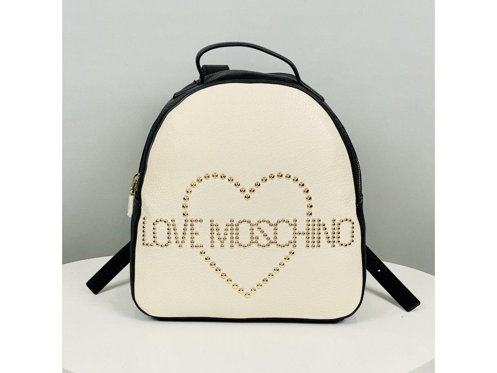 Černo-bílý batoh Love Moschino