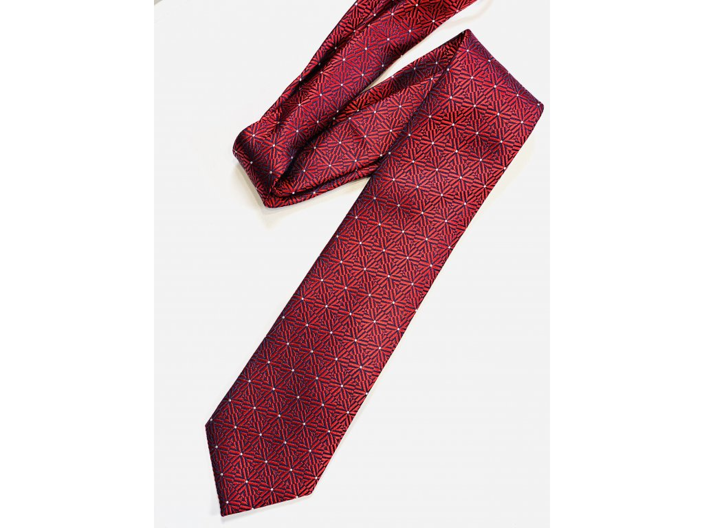 Červená Ermenegildo Zegna kravata