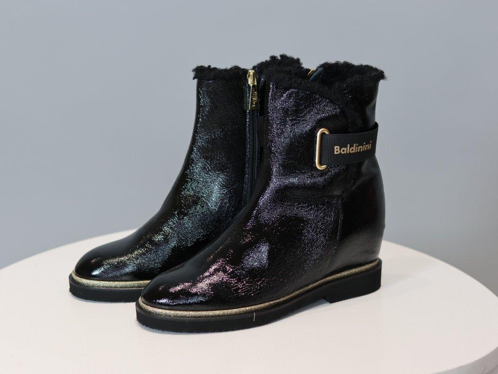 Dámské černé elegantní boty Baldinini