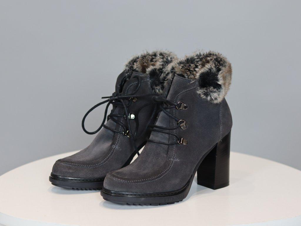 Dámské boty Baldinini na podpatku (broušená kůže)
