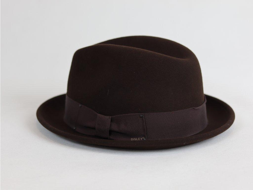 Bailey Tino Mini Fedora tmavě hnědý, voděodolný klobouk