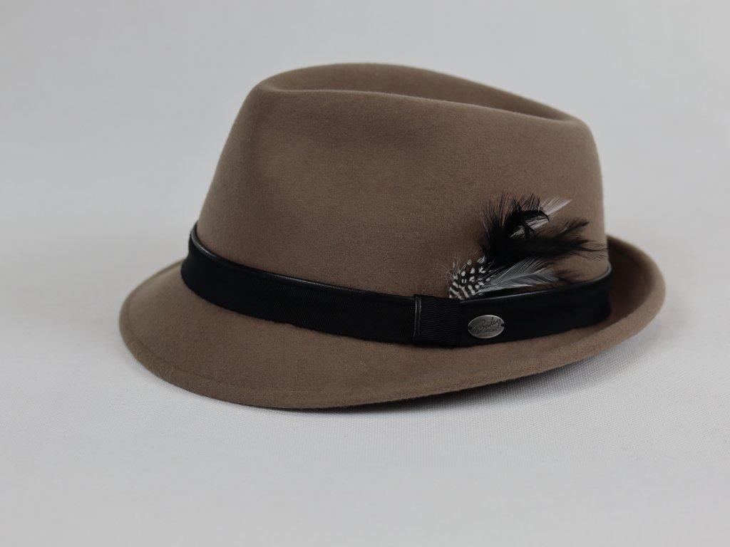 Bailey Ike Trilby béžový klobouk s černou stuhou