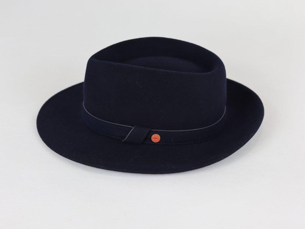 Mayser Doren Fedora tmavě modrý voděodolný klobouk
