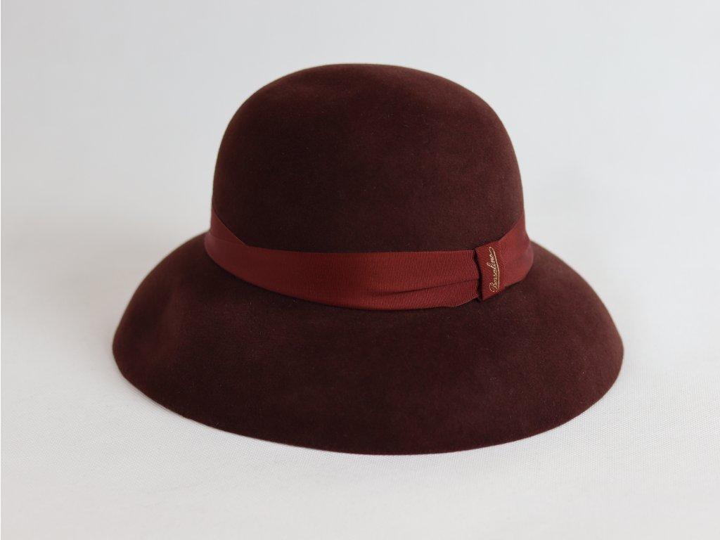 Borsalino Audrie Gatsby dámský bordo klobouk velurový